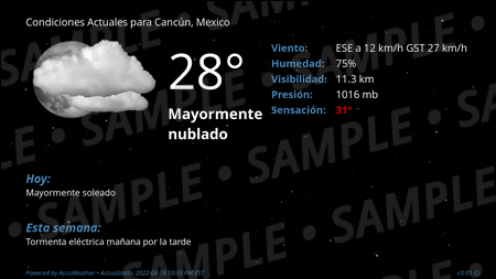 Current Conditions for Cancun